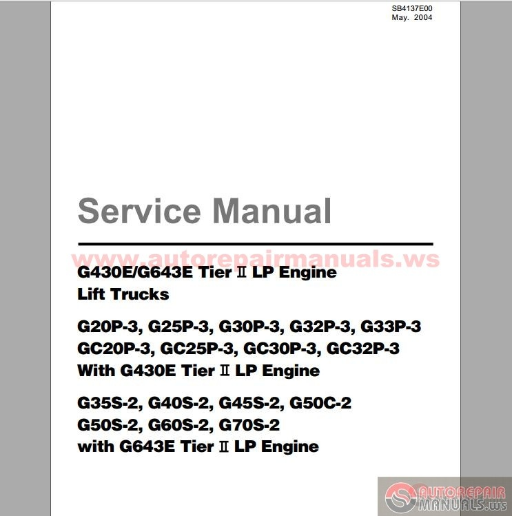 Daewoo Forklift G35s service Manual Daewoo Doosan forklift with LPG