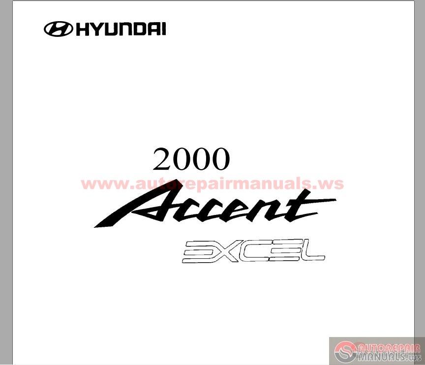 hyundai accent 1996 repair manual pdf