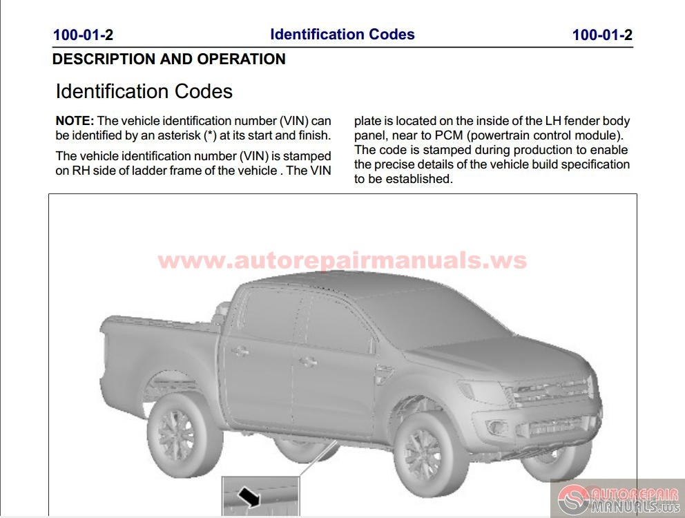 Ford Ranger Service Manual Pdf Free