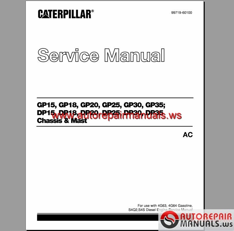 Caterpillar Gp25 Forklifts Manual