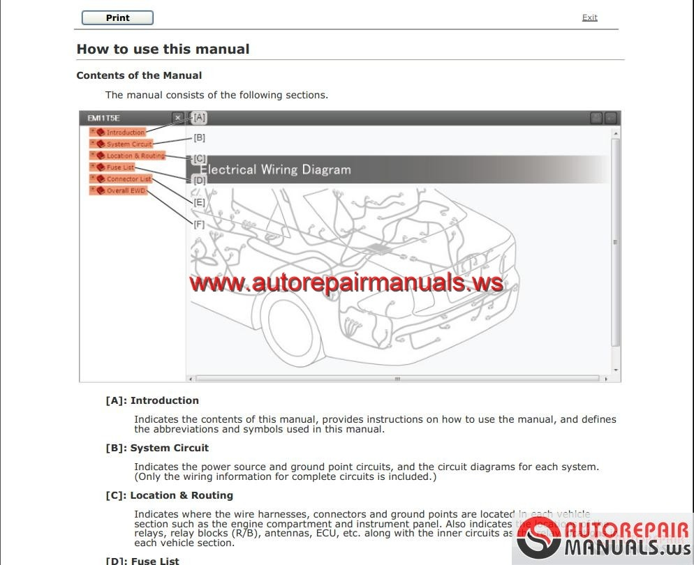 2010 highlander repair manual