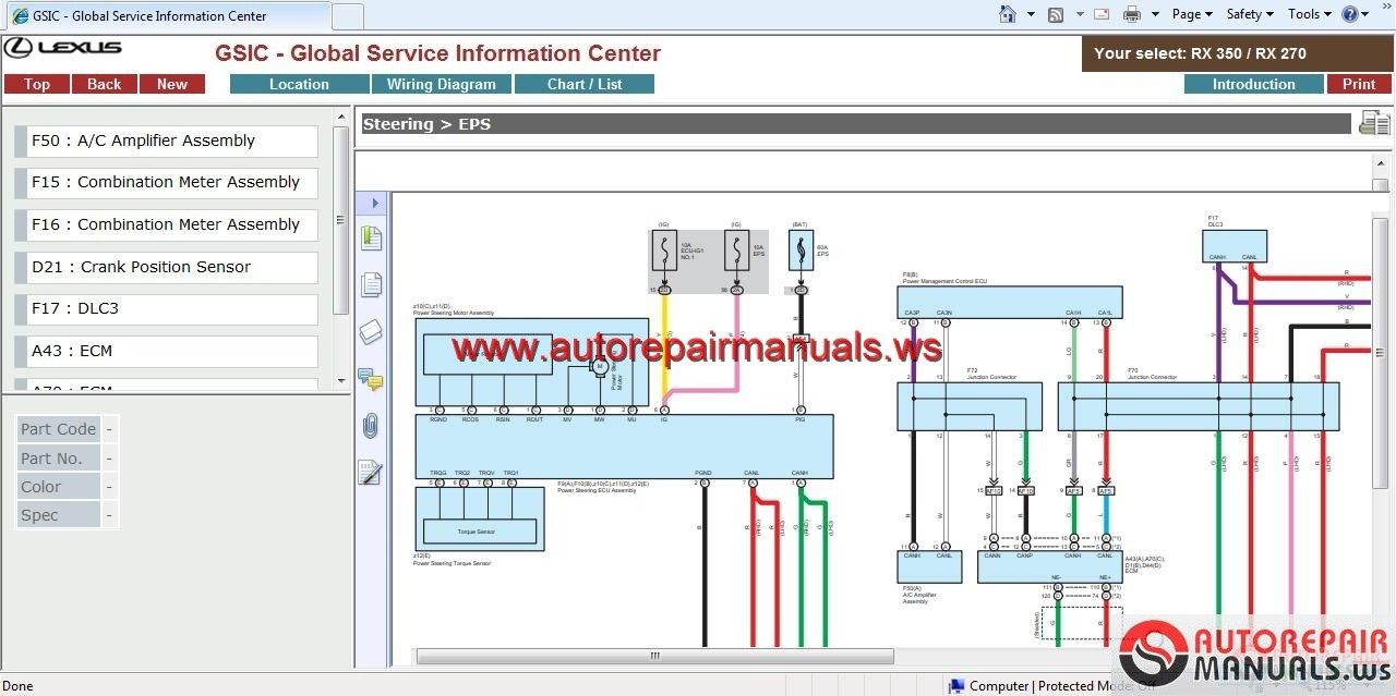Lexus Rx450h Wiring Diagram Gsic Repair Manual Body And Etc Full Img