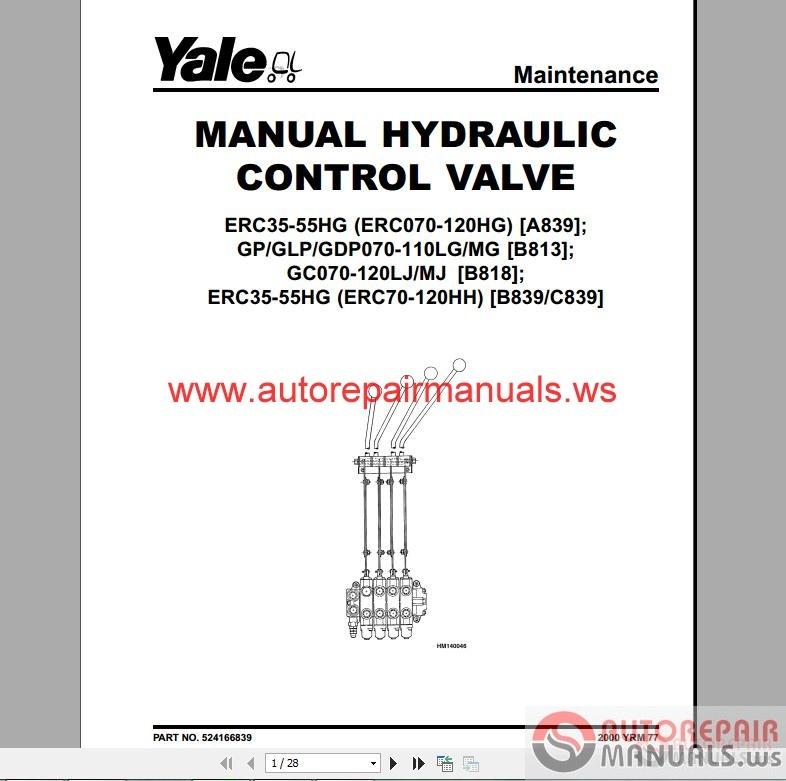 Yale forklift Repair Service Manual