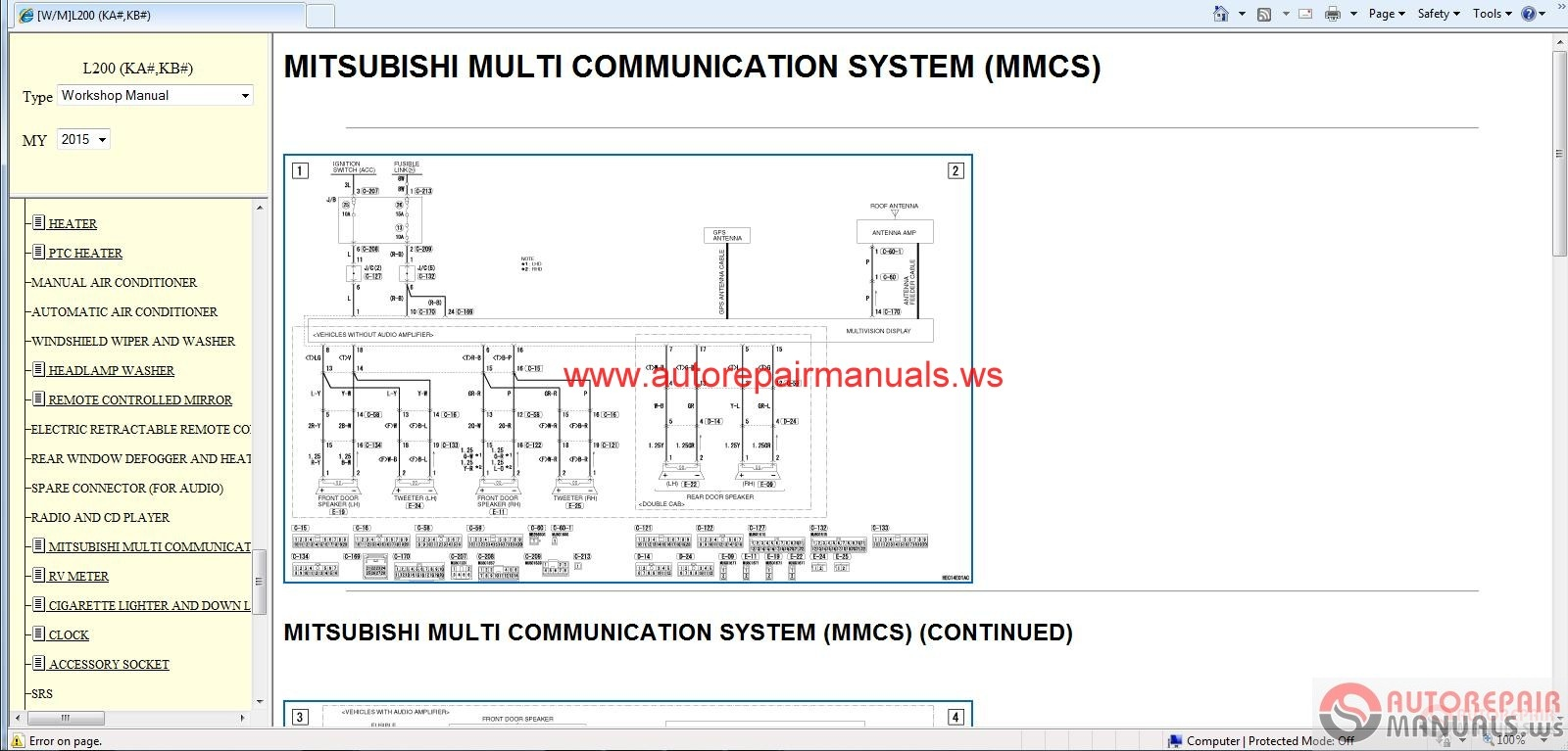 Mitsubishi 6d16 Workshop Manual