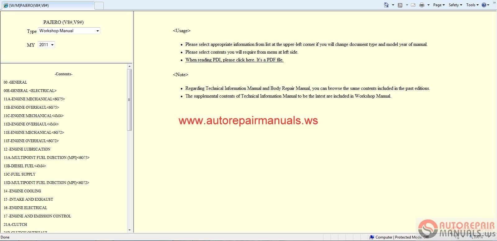 Wiring Diagram Mitsubishi Pajero Sport