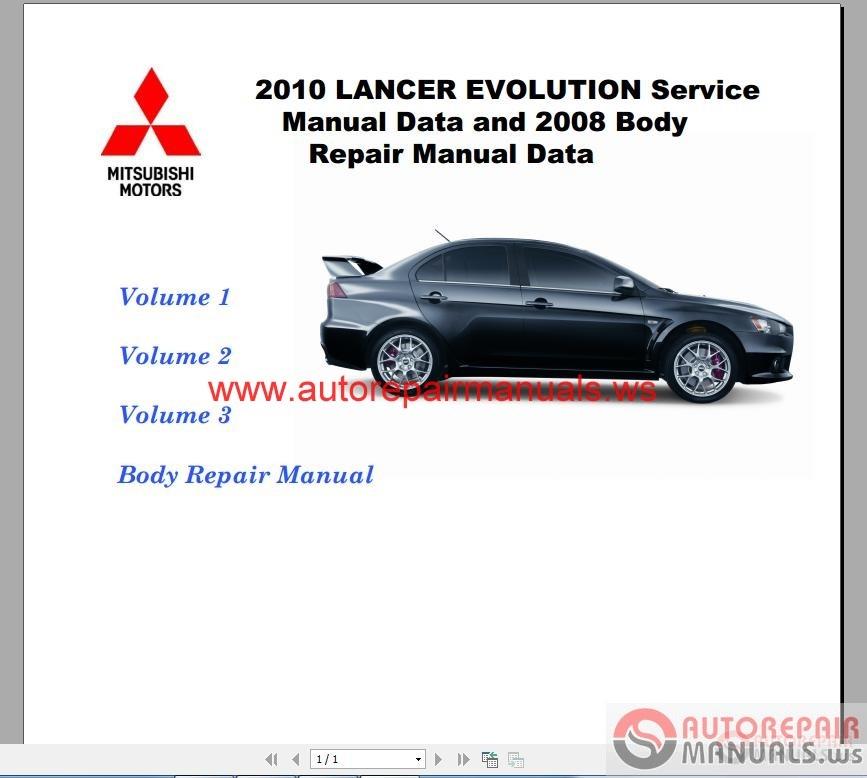 Mitsubishi 4g54 repair Manual