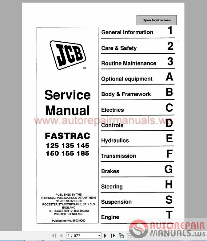 Jcb 3d manual Jcb B Wiring Schematic on
