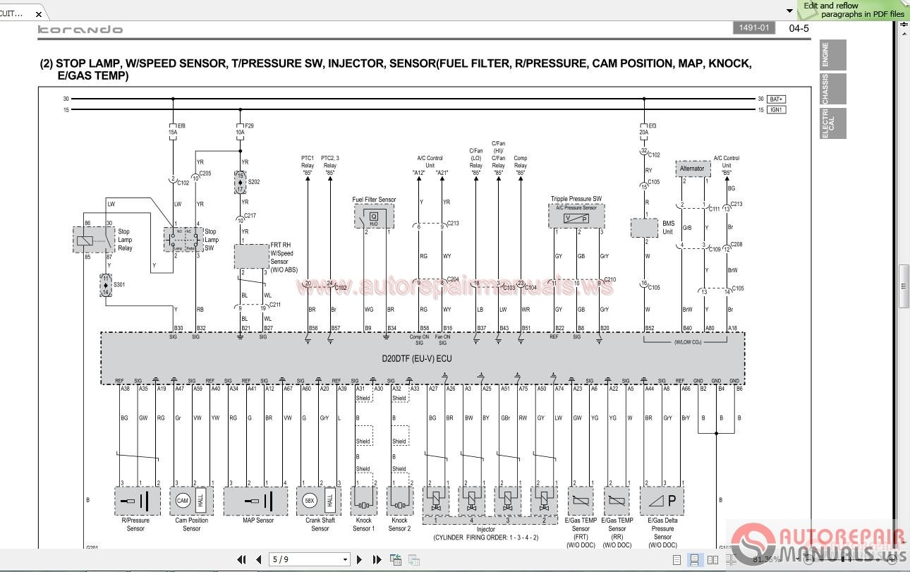 Daewoo Musso Wiring Diagram Block And Schematic Diagrams Stereo Ssangyong Korando C C205 2012 02 Workshop Manual Auto Repair Rh Autorepairmanuals Ws Radio