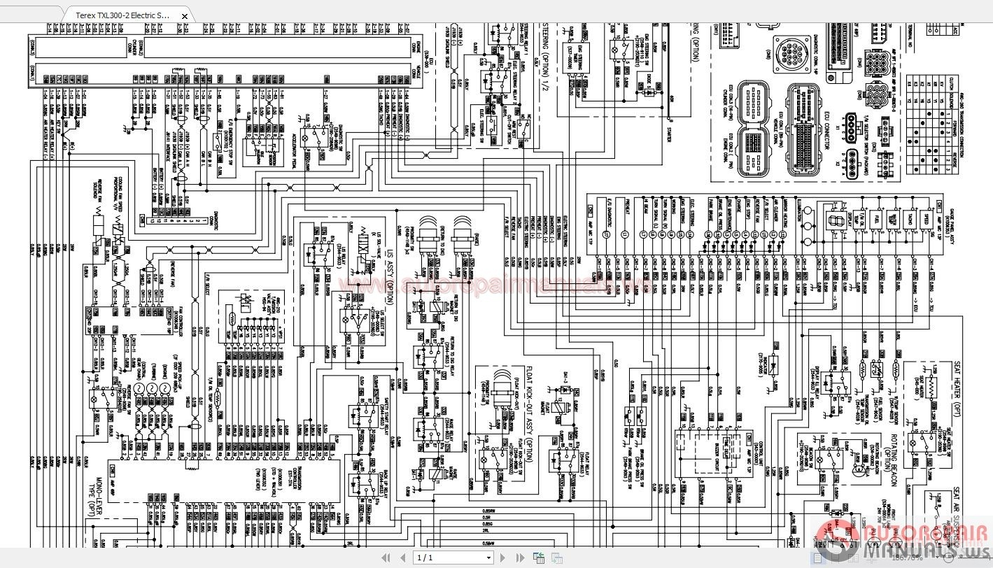 Terex Wiring Diagrams Example Electrical Diagram Basic Txl300 2 Electric Schematic Auto Repair Manual Mixer