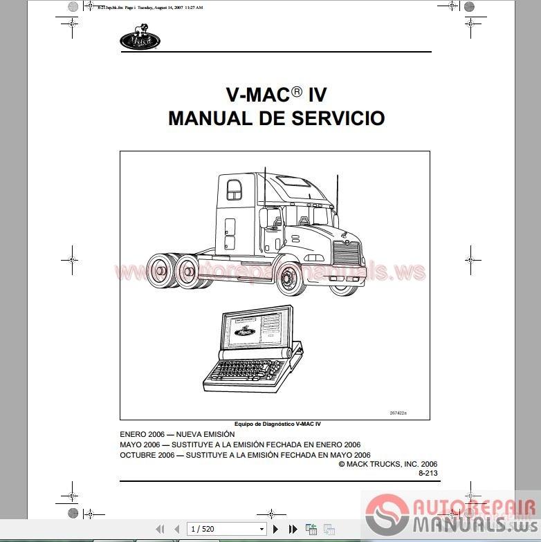 Service manual Mack mp8