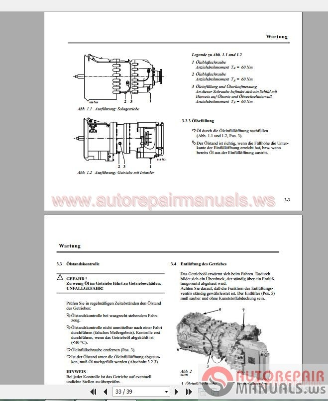Zf Astronic Transmission Service manual