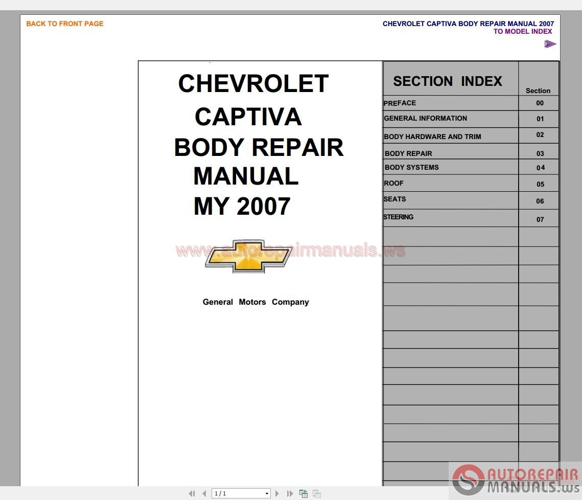 captiva body repair manual auto repair manual forum. Black Bedroom Furniture Sets. Home Design Ideas