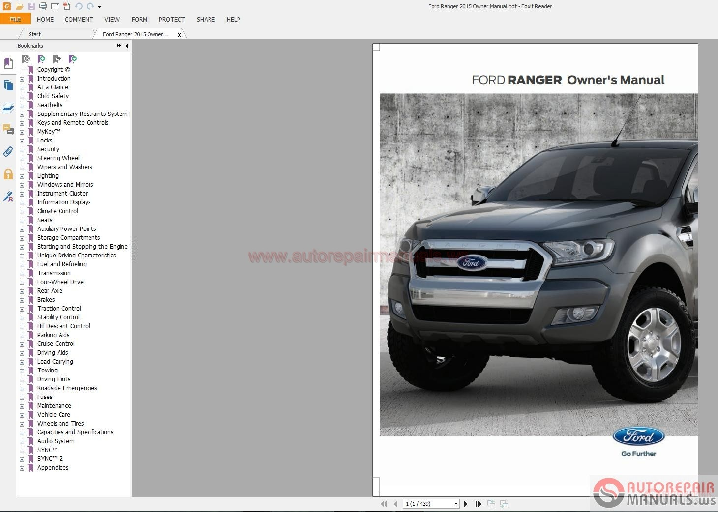 ford ranger 2015 owner manual auto repair manual forum. Black Bedroom Furniture Sets. Home Design Ideas