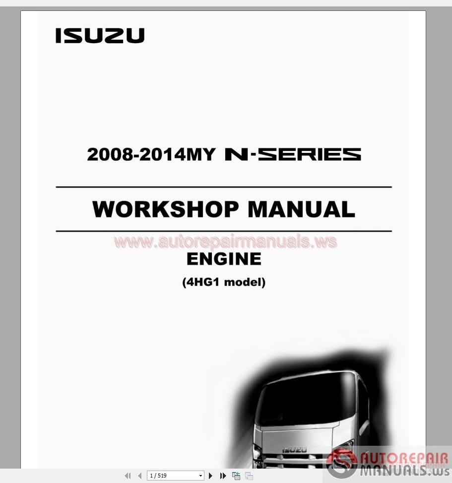 isuzu a 4ja1 workshop manual pdf download autos post. Black Bedroom Furniture Sets. Home Design Ideas
