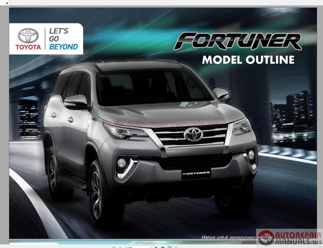 Toyota Fortuner 2017 Service Training Auto Repair Manual