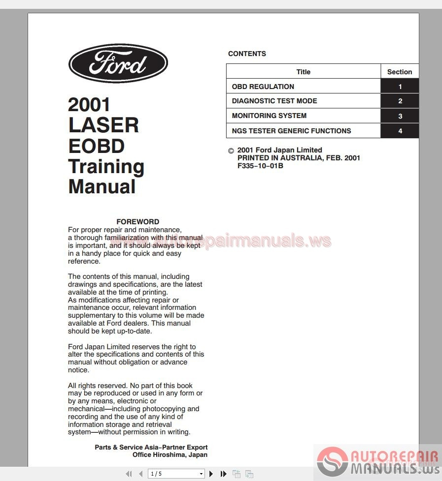 ford laser 2001 workshop manual free auto repair manuals. Black Bedroom Furniture Sets. Home Design Ideas