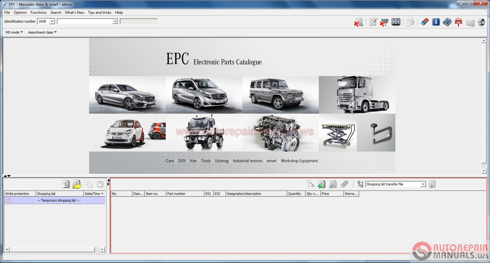 Arm0044 mercedes benz epc full instruction for Mercedes benz online repair manual