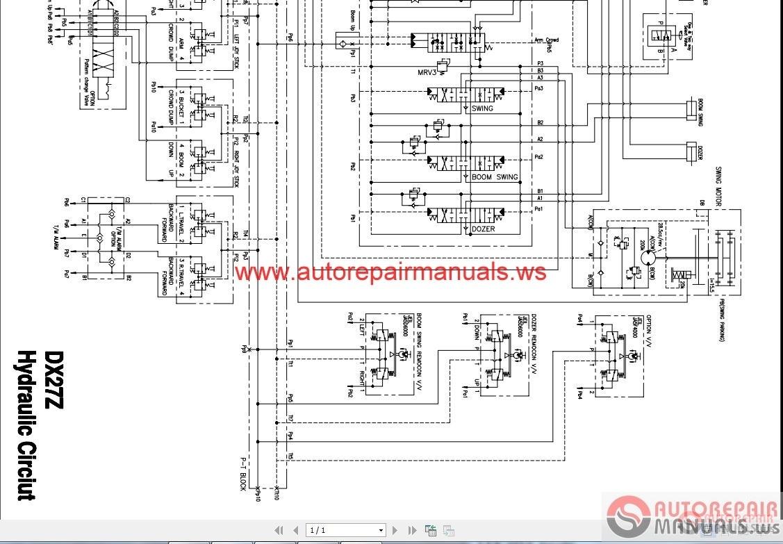Auto Repair Manuals   Arm0048  Doosan Daios Wirings Diagrams  06 2015  Full