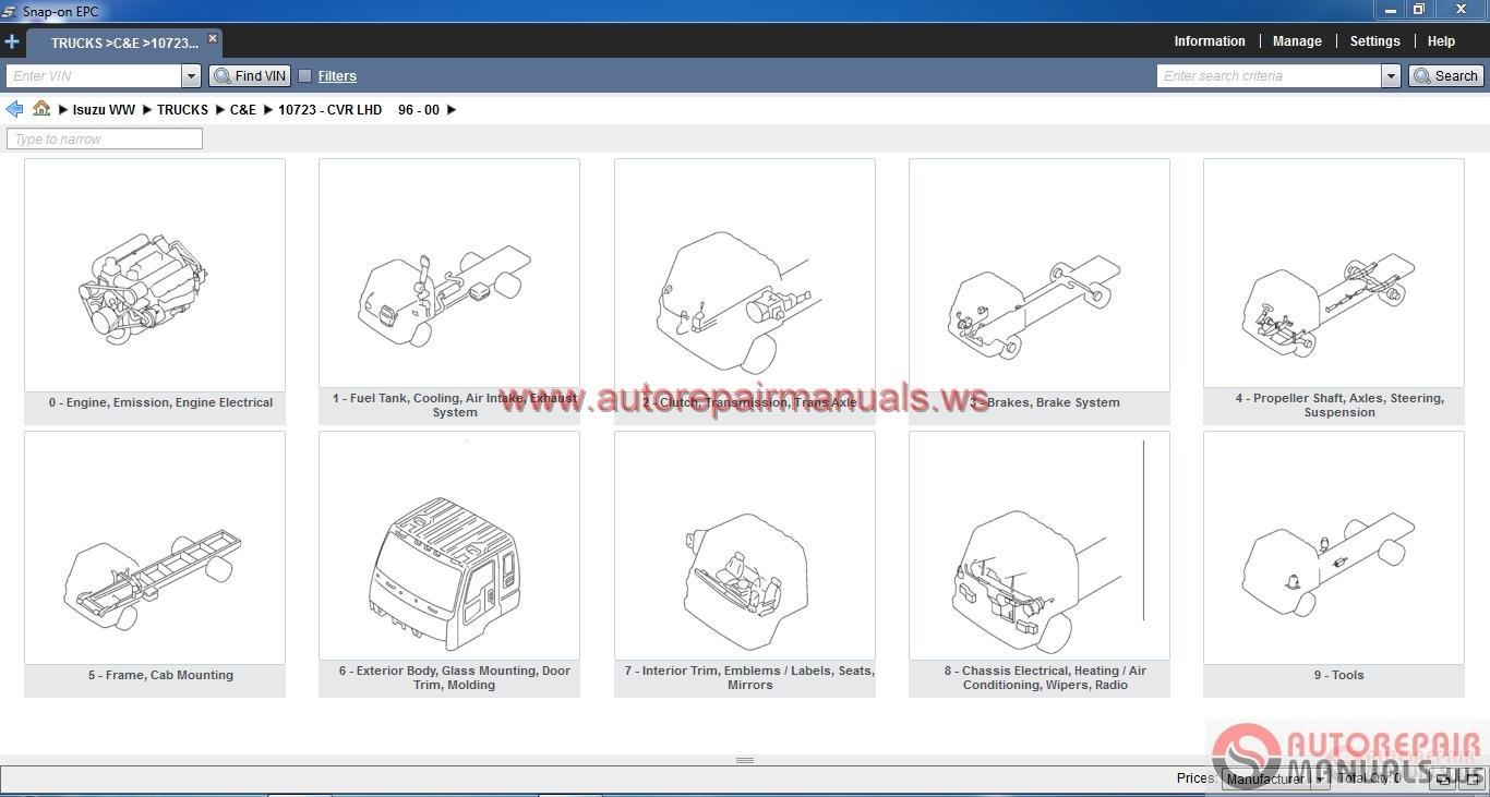 Isuzu Worldwide Epc Full Instruction on 2004 Isuzu Npr Service Manual