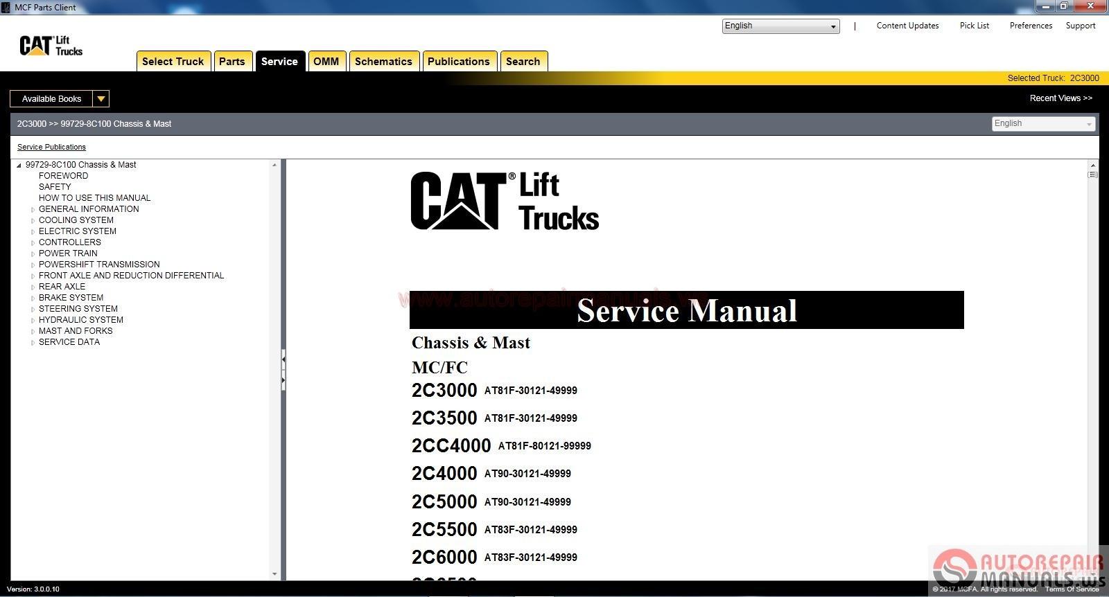 caterpillar fork lift trucks mcfa  03 2017  full activated
