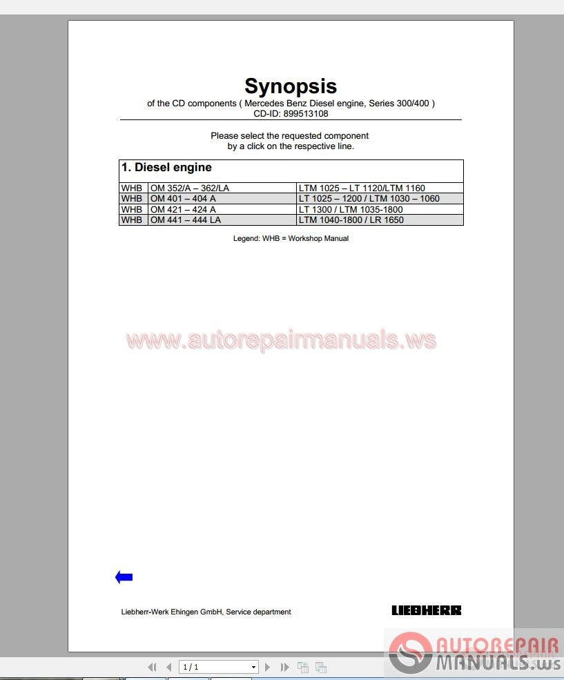 Mercedes benz 300 400 series engine workshop manual auto for Mercedes benz workshop manuals