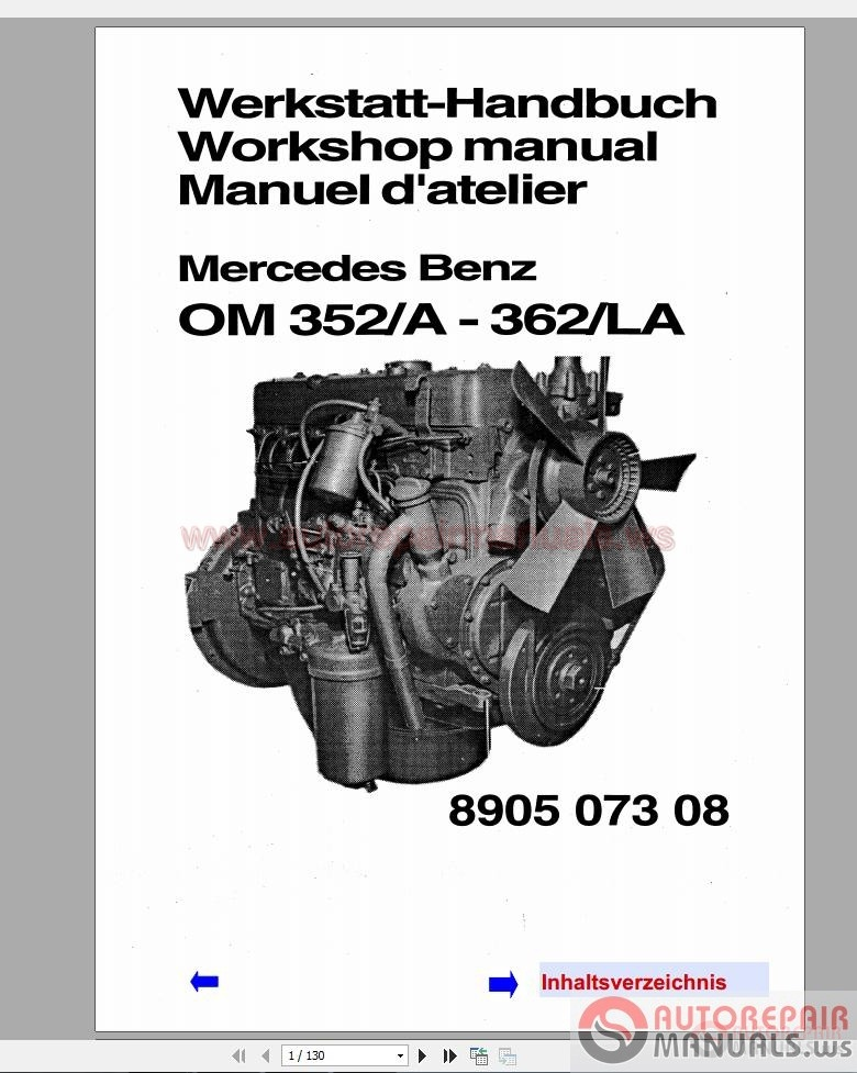 mercedes benz 300 400 series engine workshop manual