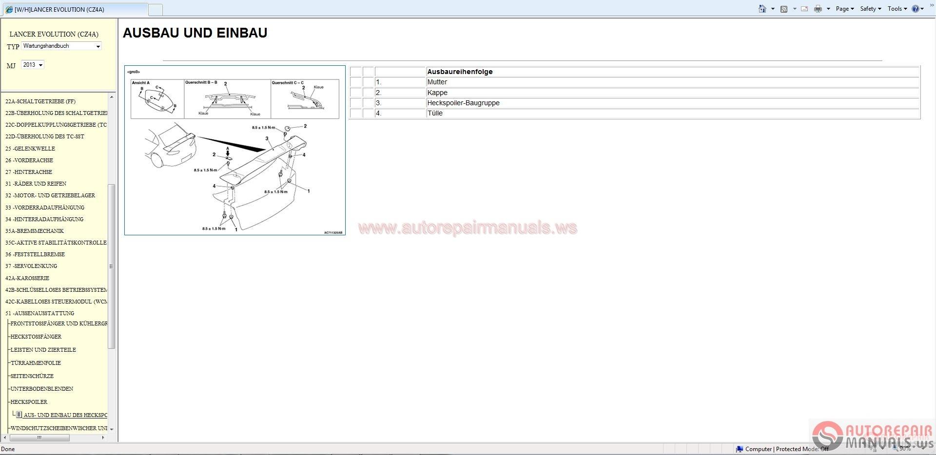 mitsubishi lancer evo x 2013 service manual auto repair. Black Bedroom Furniture Sets. Home Design Ideas