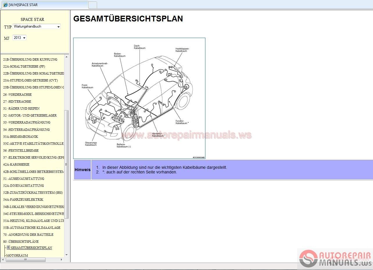 mitsubishi space star 2013 service manual | auto repair ... wiring diagram mitsubishi space star stereo wiring diagram mitsubishi