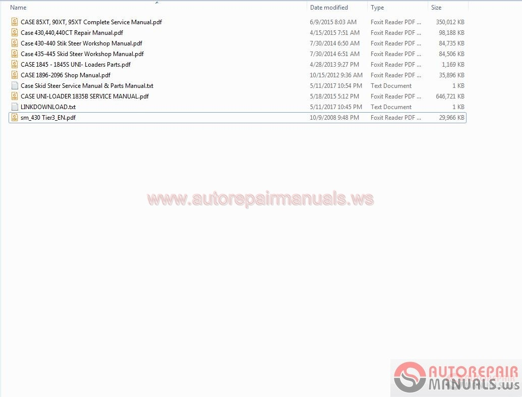... loader parts catalog manual Array - case skid steer service manual  u0026 parts manual auto repair manual rh autorepairmanuals ws