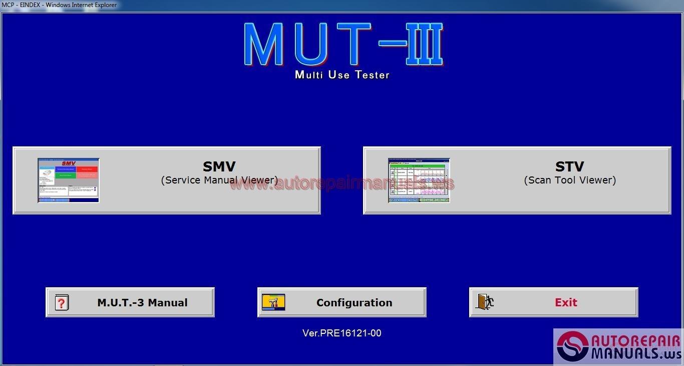mitsubishi mut iii pre17031 00 diagnostic software  04