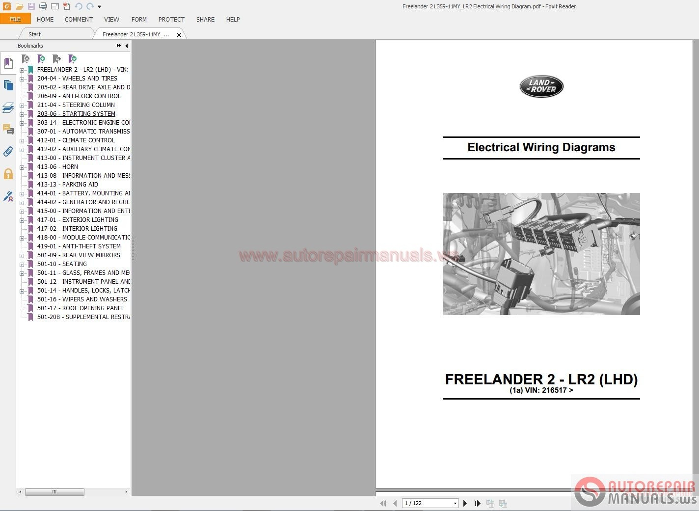 Land Rover Series 1 Parts Manual Pdf Today Guide Trends Iii Wiring Freelander 2 L359 11my Lr2 Electrical Defender Model