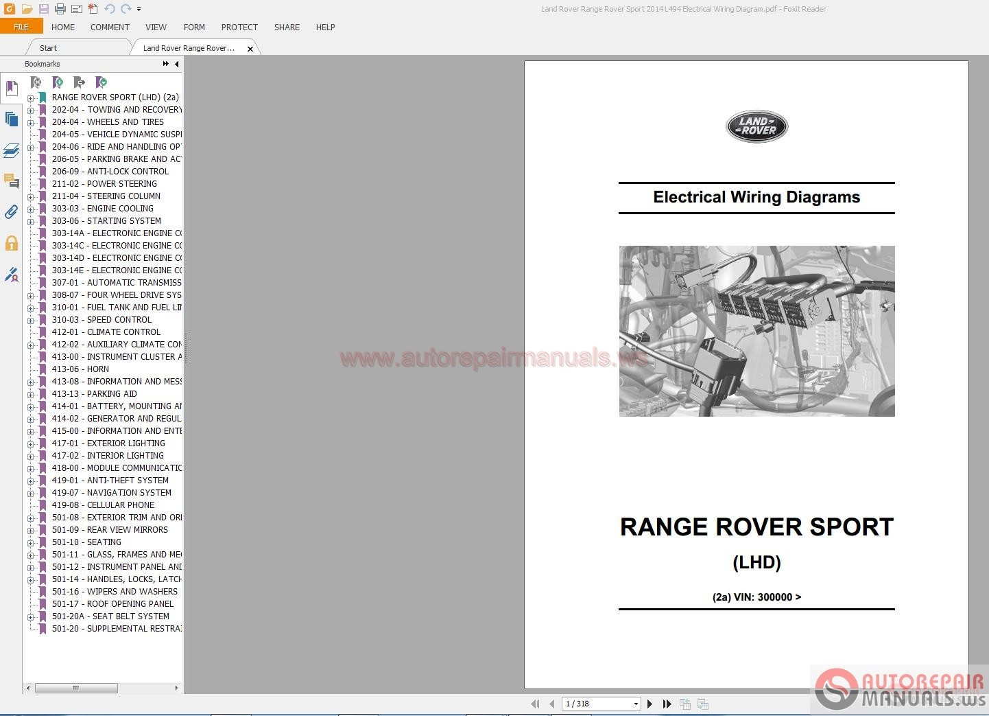 Land Rover Freelander 2 Repair Manual Free Download Product User Wiring Diagram Range Sport 2014 L494 Electrical Auto Forum Workshop