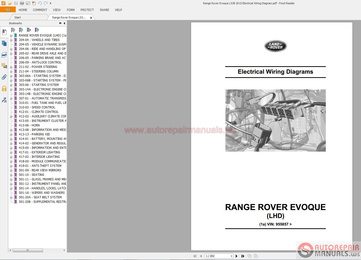 Wiring Diagram Manual Wdm : Range rover evoque l electrical wiring diagram