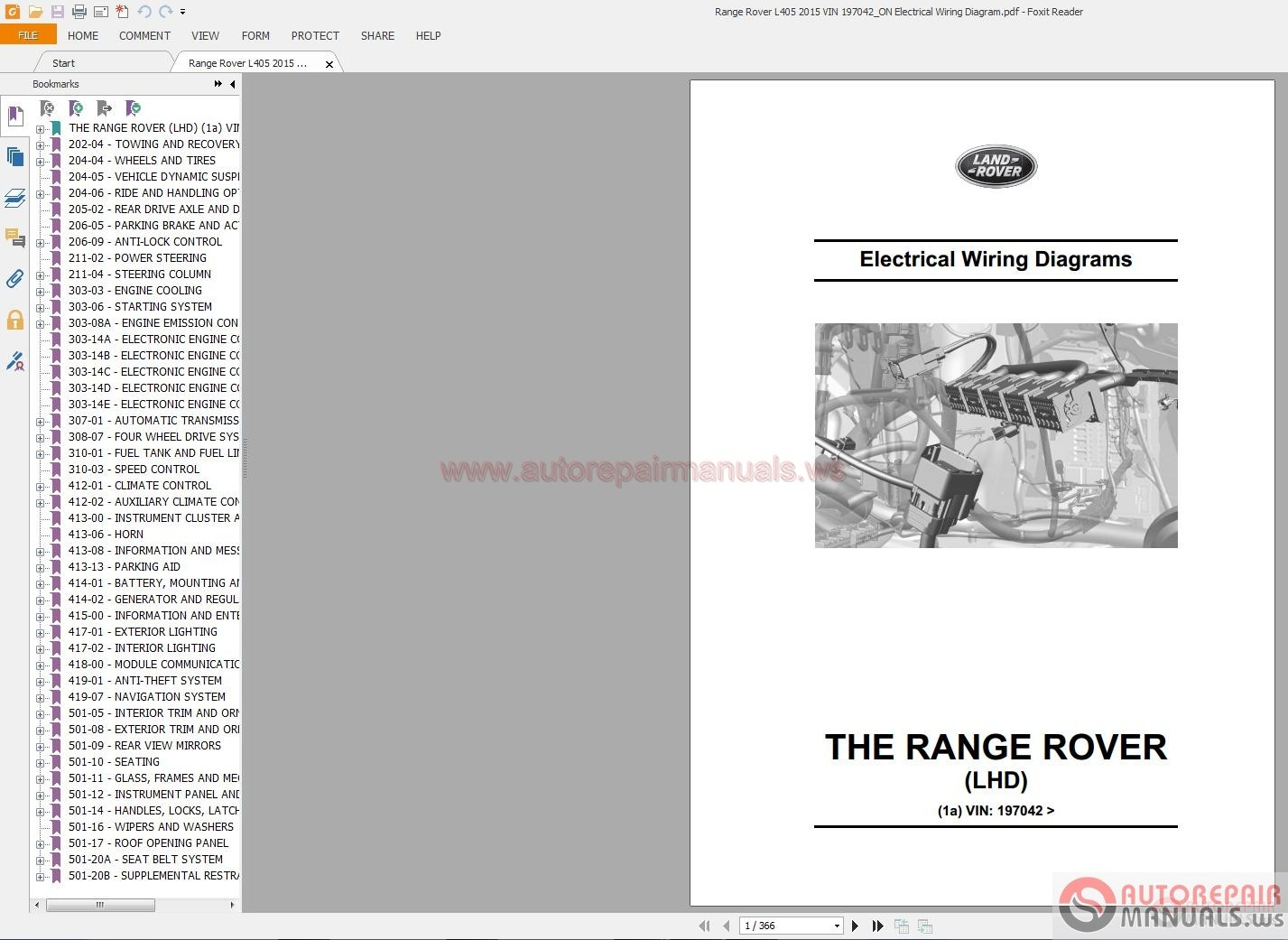 Range Rover L405 2015 Vin 197042 On Electrical Wiring Diagram