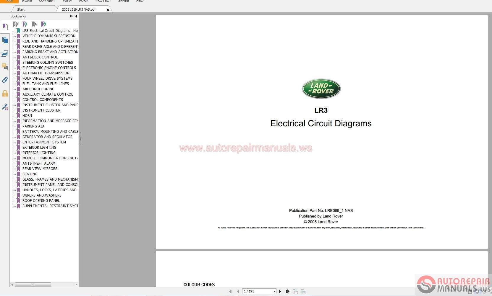 Land Rover Range Electrical Wiring Diagram Guides 1995 2015 2004 Pdf Img