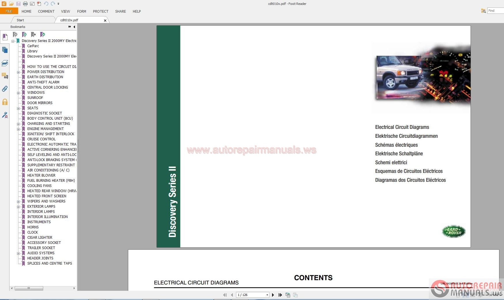 Land Rover Discovery II 2000 Circuit Diagrams Auto