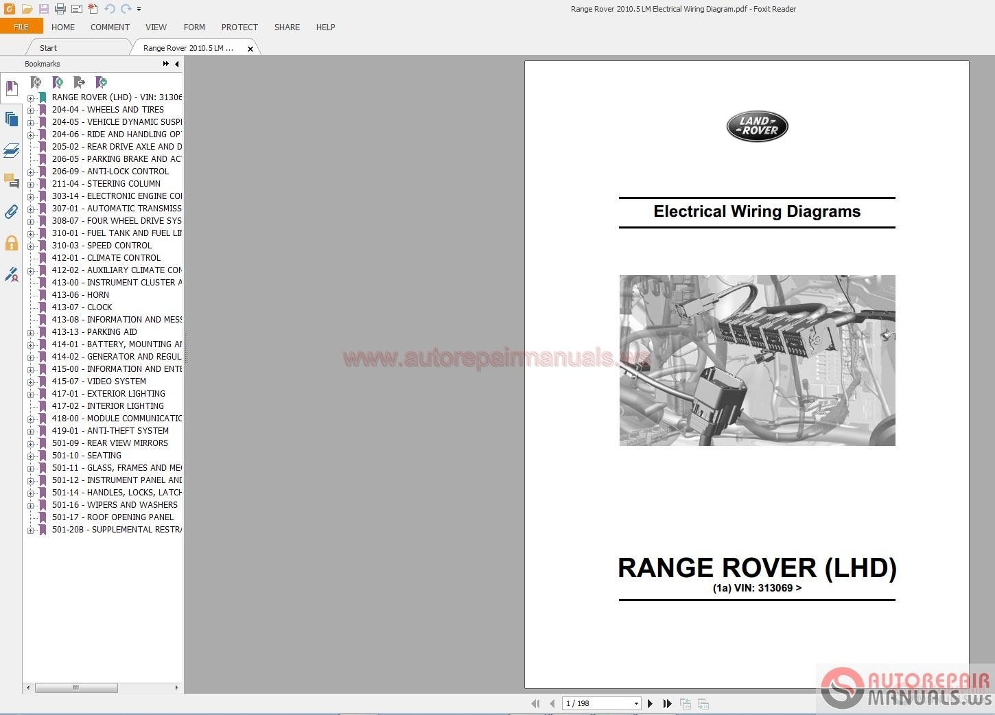 Auto Repair Manuals  Land Rover Electrical Diagrams 1995