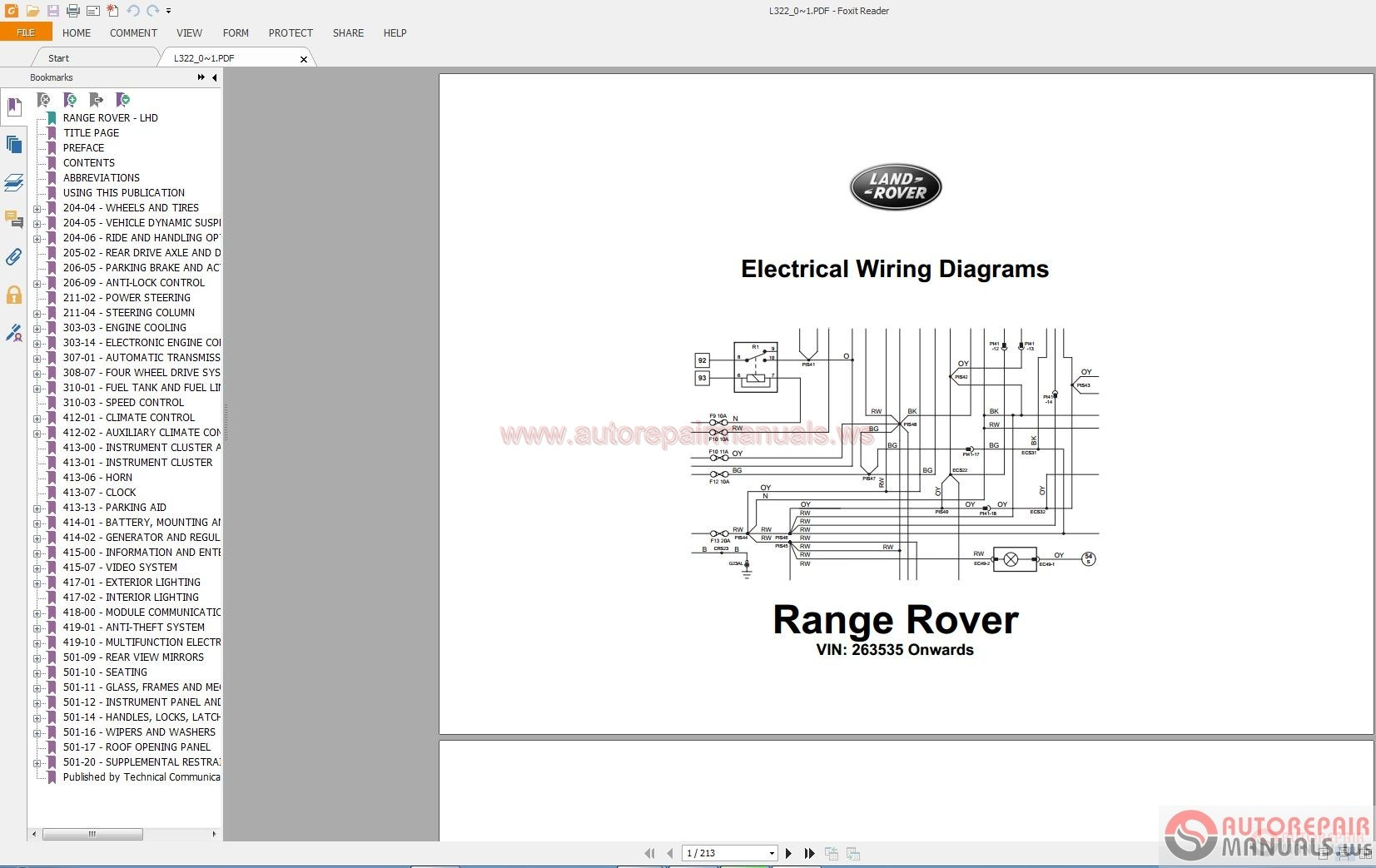 land rover electrical diagrams 1995 2010 auto repair