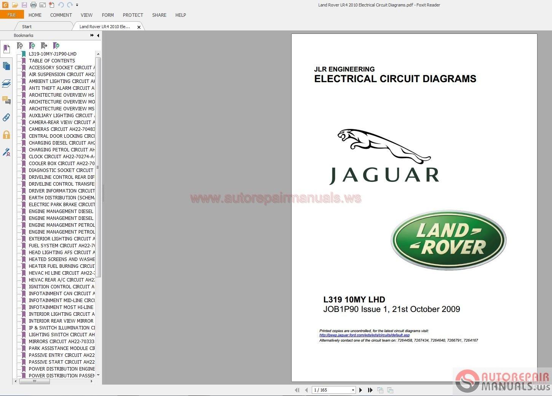 Land Rover Lr4 2010 Electrical Circuit Diagrams