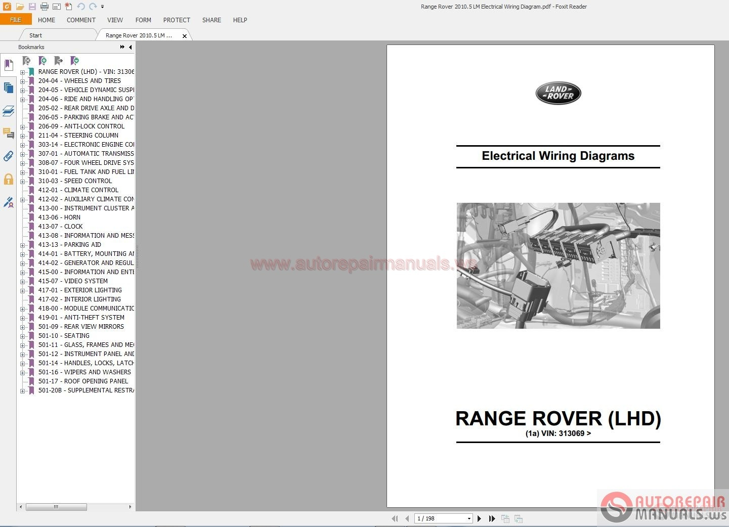 Range Rover 2010 5 Lm Electrical Wiring Diagram