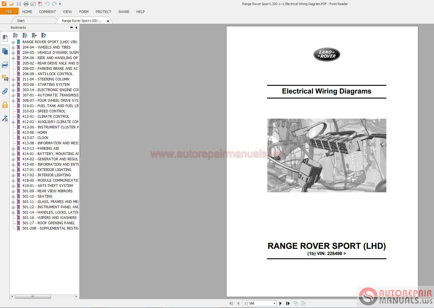 Range Rover Sport L320 1 1 Electrical Wiring Diagram