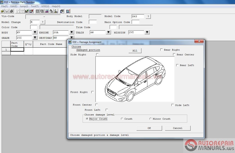 SUBARU Fast II EPC Full Instruction Auto