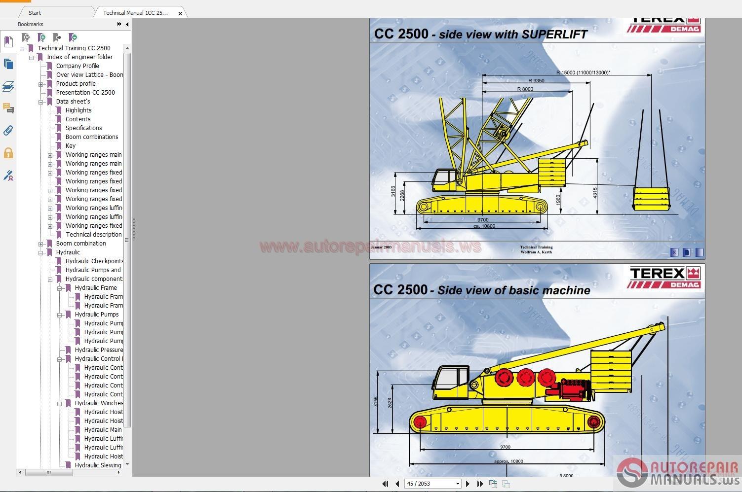 Terex rt 450 service manual