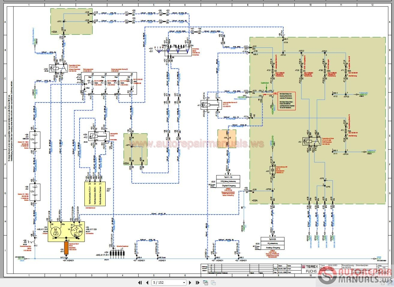 terex fuchs mhl320d wiring diagram part 1 auto repair manual forum heavy equipment forums