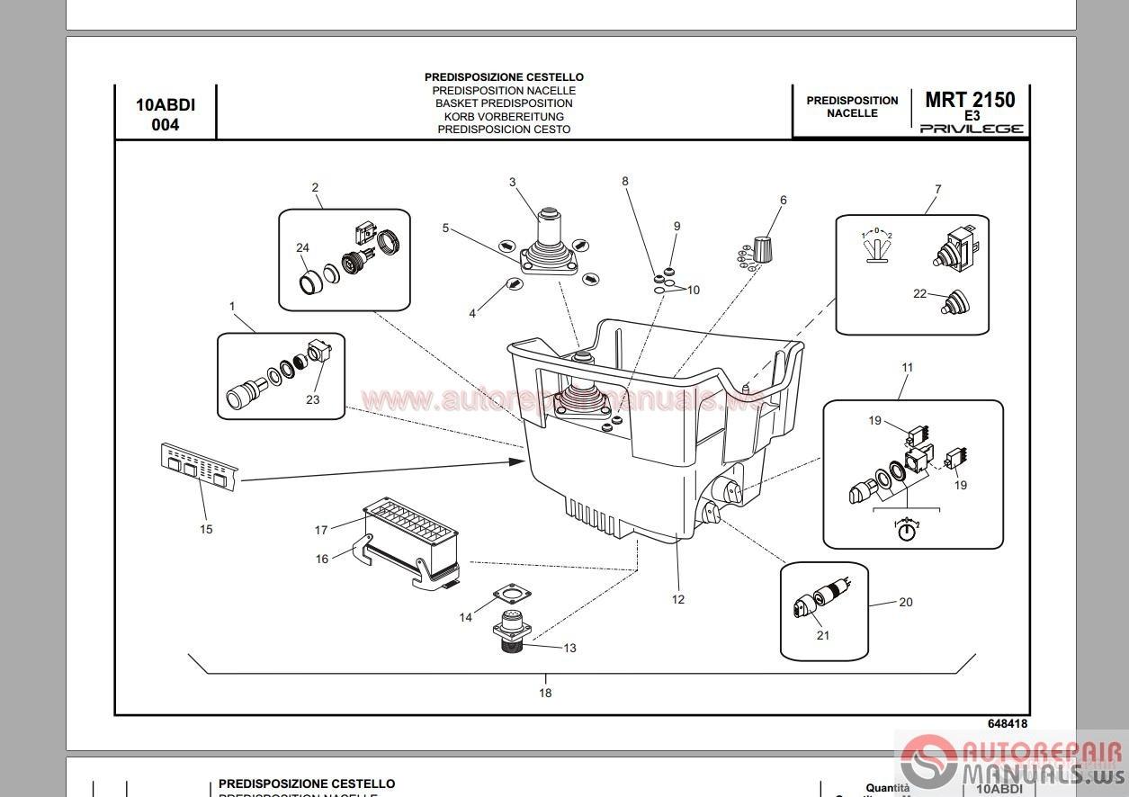 Manitou Mrt 1850-2540 M-SERIE Gabelstapler Workshop Manual
