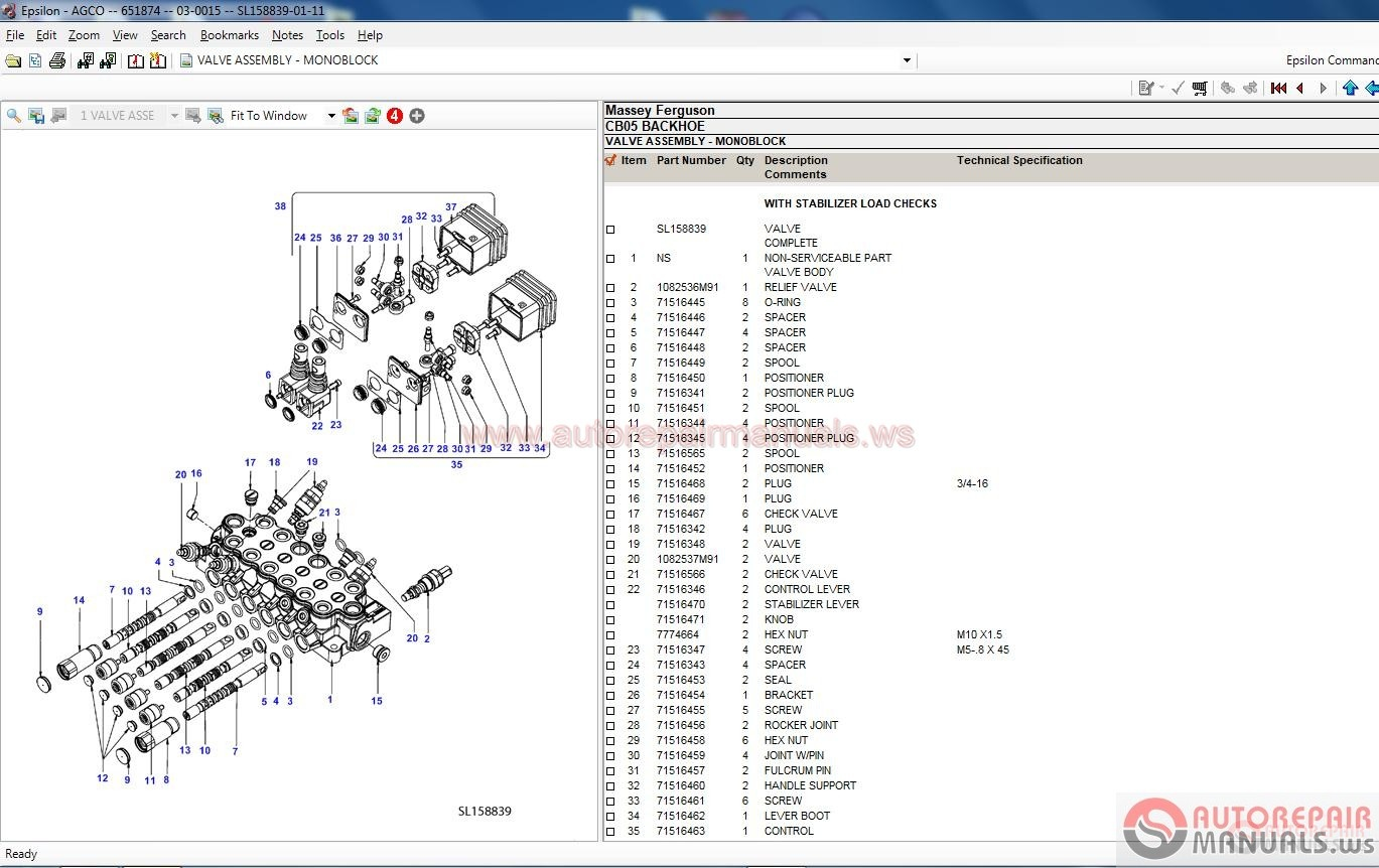 Massey Ferguson Tractors Parts Catalog : Massey ferguson eu parts catalog  full serial