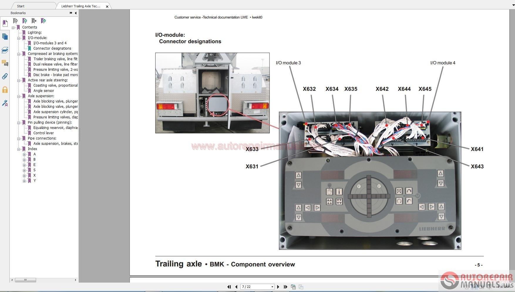 liebherr trailing axle technical information