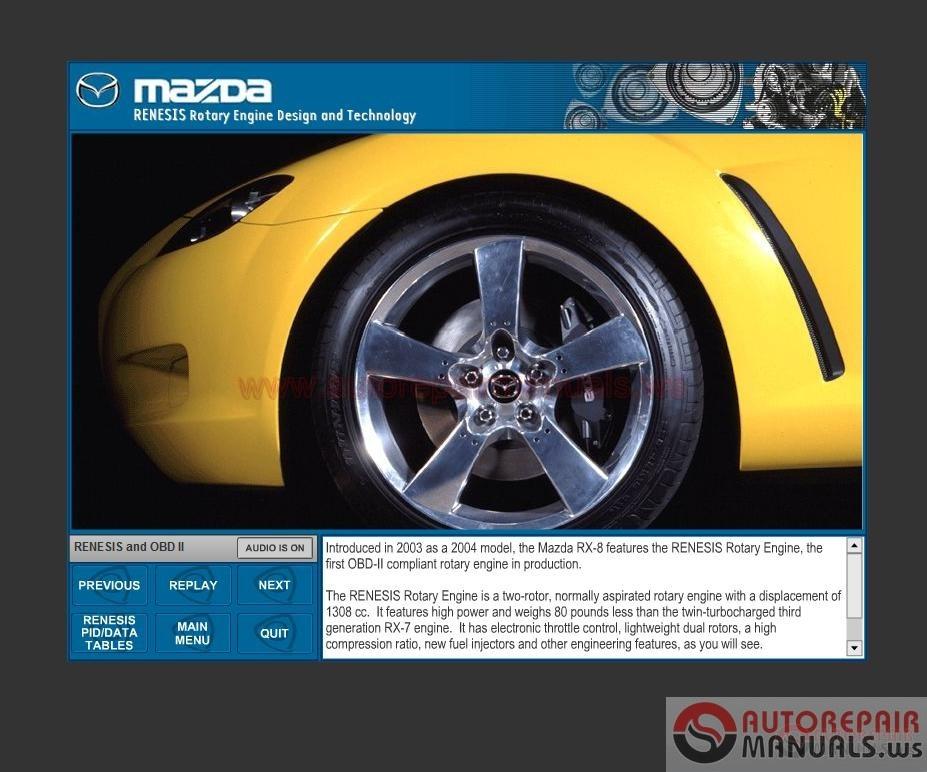 Mazda Technical Serive Training Program Free Auto Repair