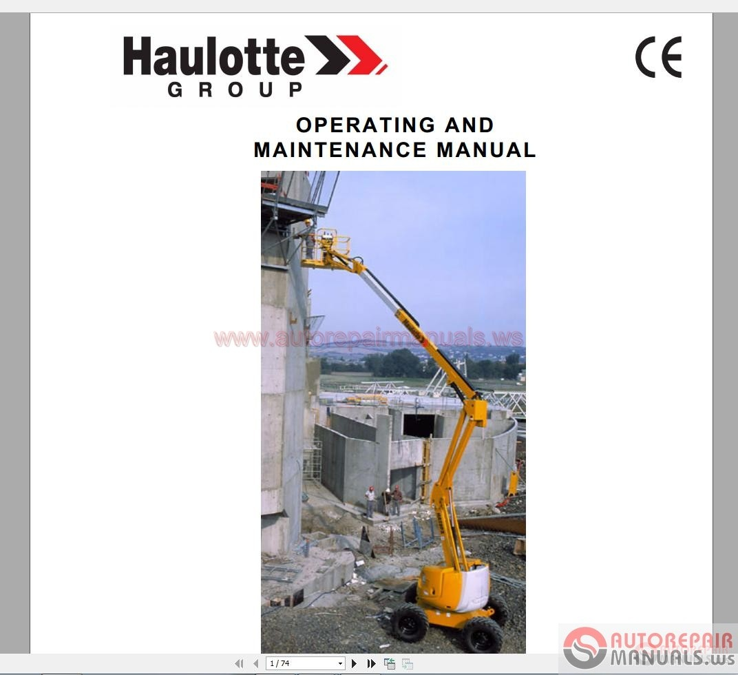 Haulotte Manuals Berlingo Wiring Diagram Forklift Citroen Van Array Repair Manual Parts Operating And Maintenance Rh Autorepairmanuals Ws