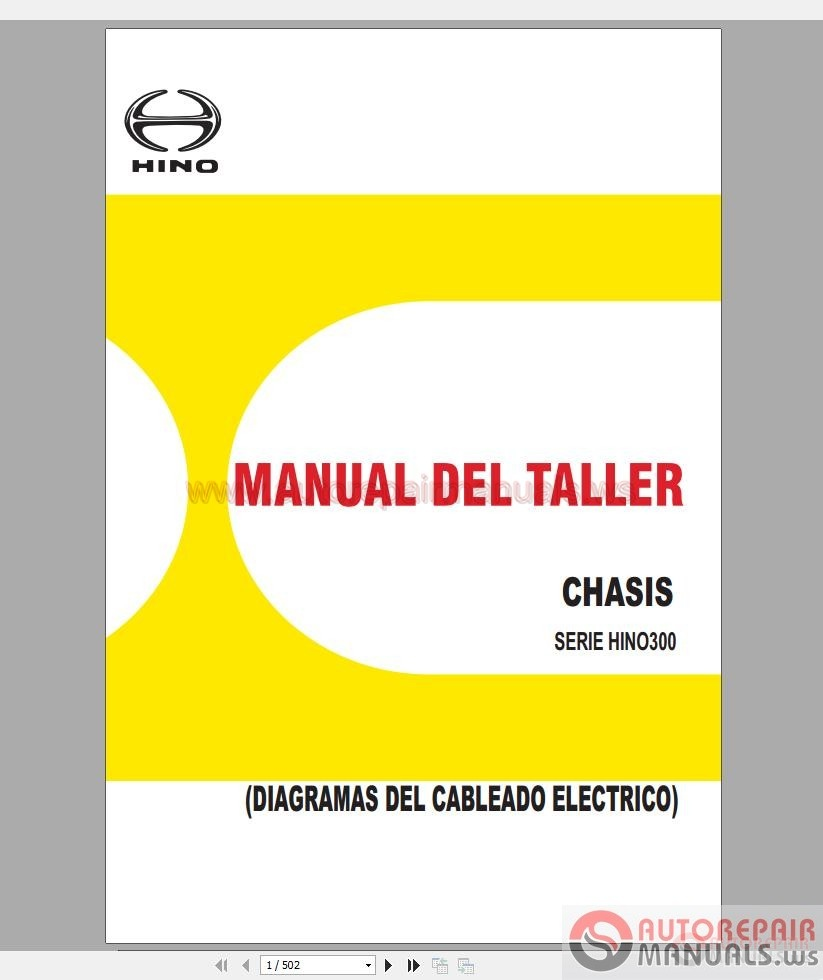 Hino Truck Full Set Manual DVD | Auto Repair Manual Forum - Heavy